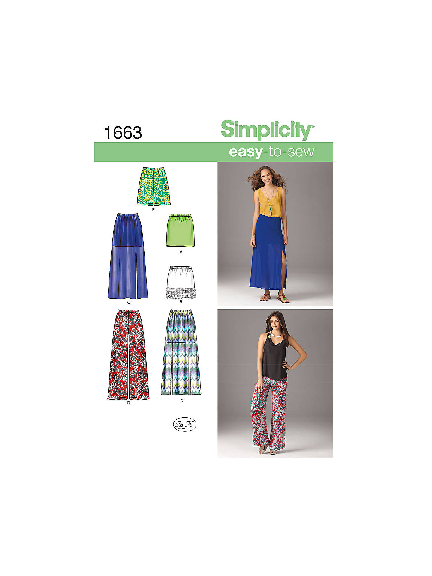 Simplicity Easy to Sew Womens' Skirts Sewing Pattern, 1663 at John