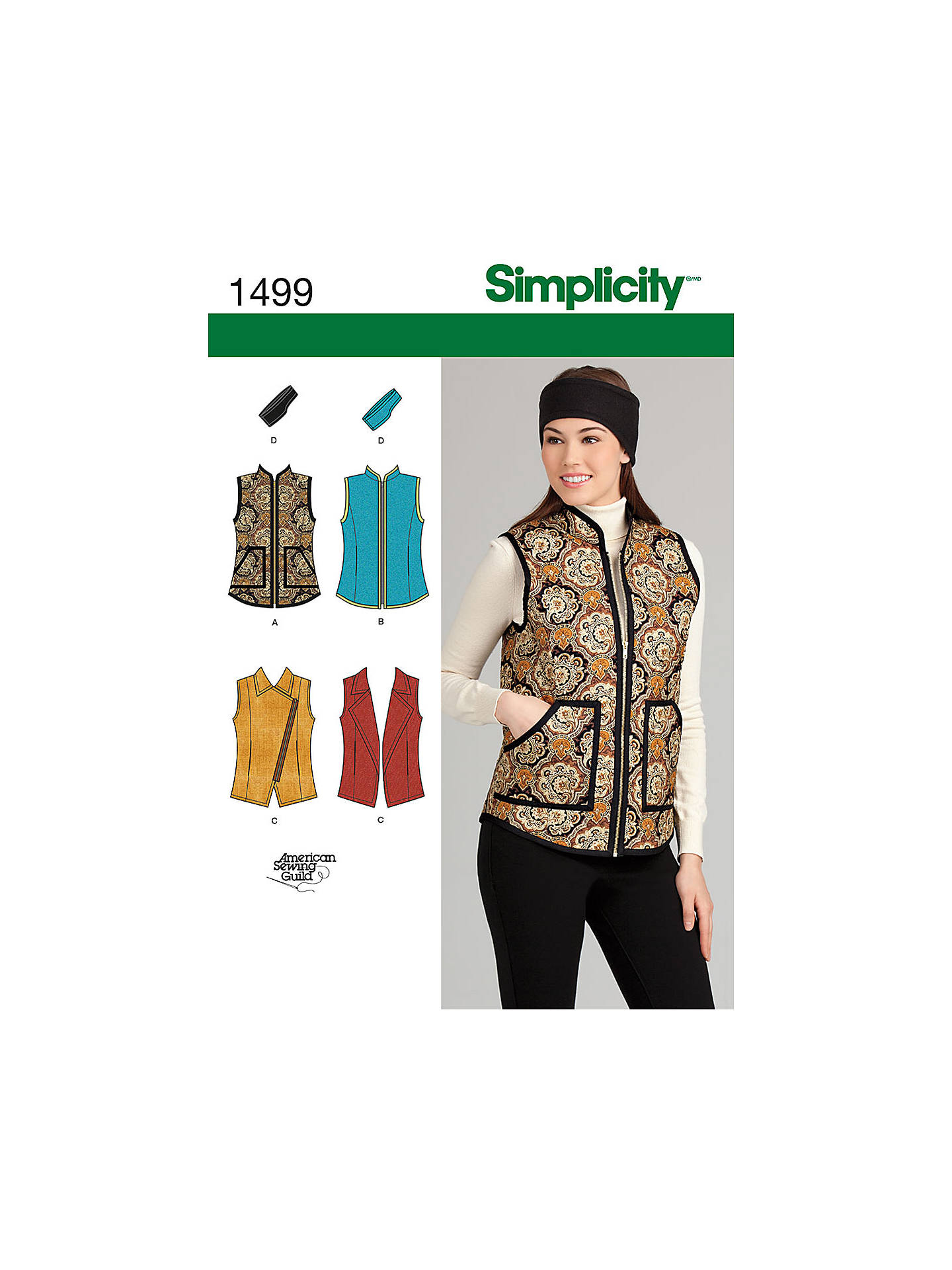 13c7e163af6 BuySimplicity Gilet Sewing Pattern