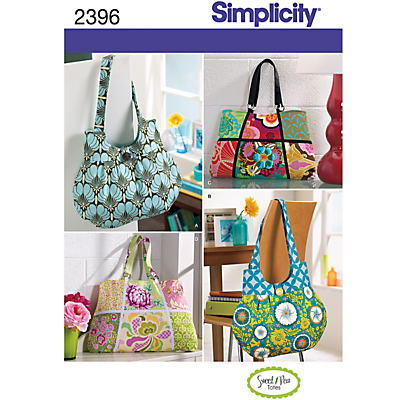 Product photo of Simplicity bags sewing leaflet 2396