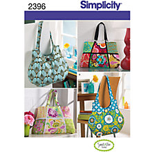 Buy Simplicity Bags Sewing Leaflet, 2396 Online at johnlewis.com