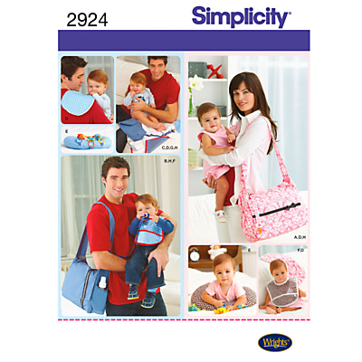 Product photo of Simplicity bags sewing leaflet 2924