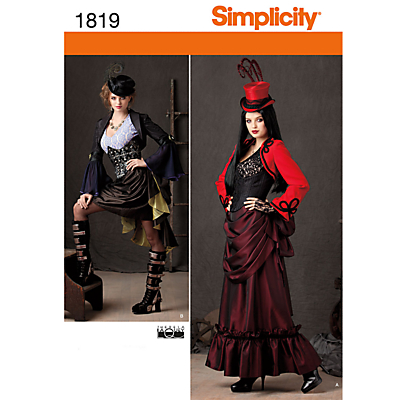 Vintage Inspired Halloween Costumes Simplicity Costume Dressmaking Leaflet 1819 £6.95 AT vintagedancer.com