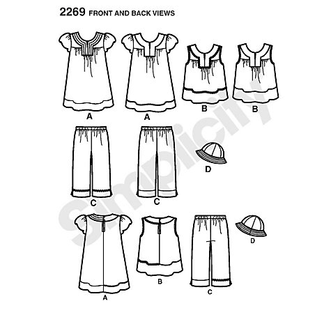 Buy Simplicity Easy to Sew Child's Dresses Sewing Leaflet, 2269, A Online at johnlewis.com
