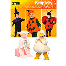Buy Simplicity Toddler Halloween Costume Sewing Pattern, 2788 Online at johnlewis.com