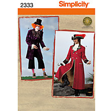 Buy Simplicity Costume Sewing Pattern, 2333 Online at johnlewis.com
