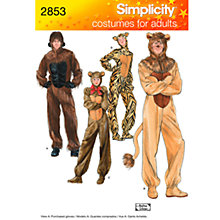 Buy Simplicity Adult Costumes Sewing Leaflet, 2853, A Online at johnlewis.com