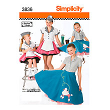 Buy Simplicity Childs' Diner Costume Sewing Pattern, 3836 Online at johnlewis.com
