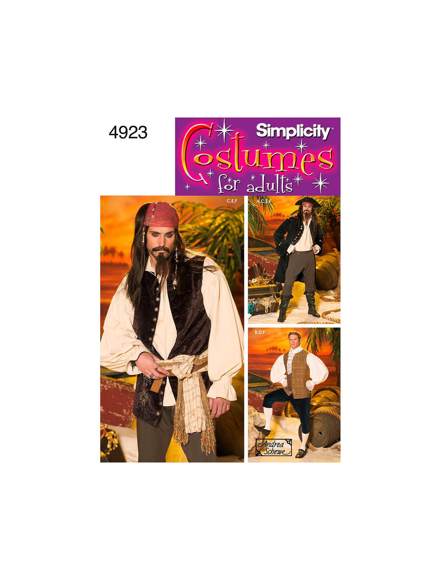 Buy Simplicity Costume Dressmaking Leaflet, 4923, BB Online at johnlewis.com