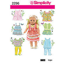 Buy Simplicity Craft Sewing Leaflet, 2296 Online at johnlewis.com