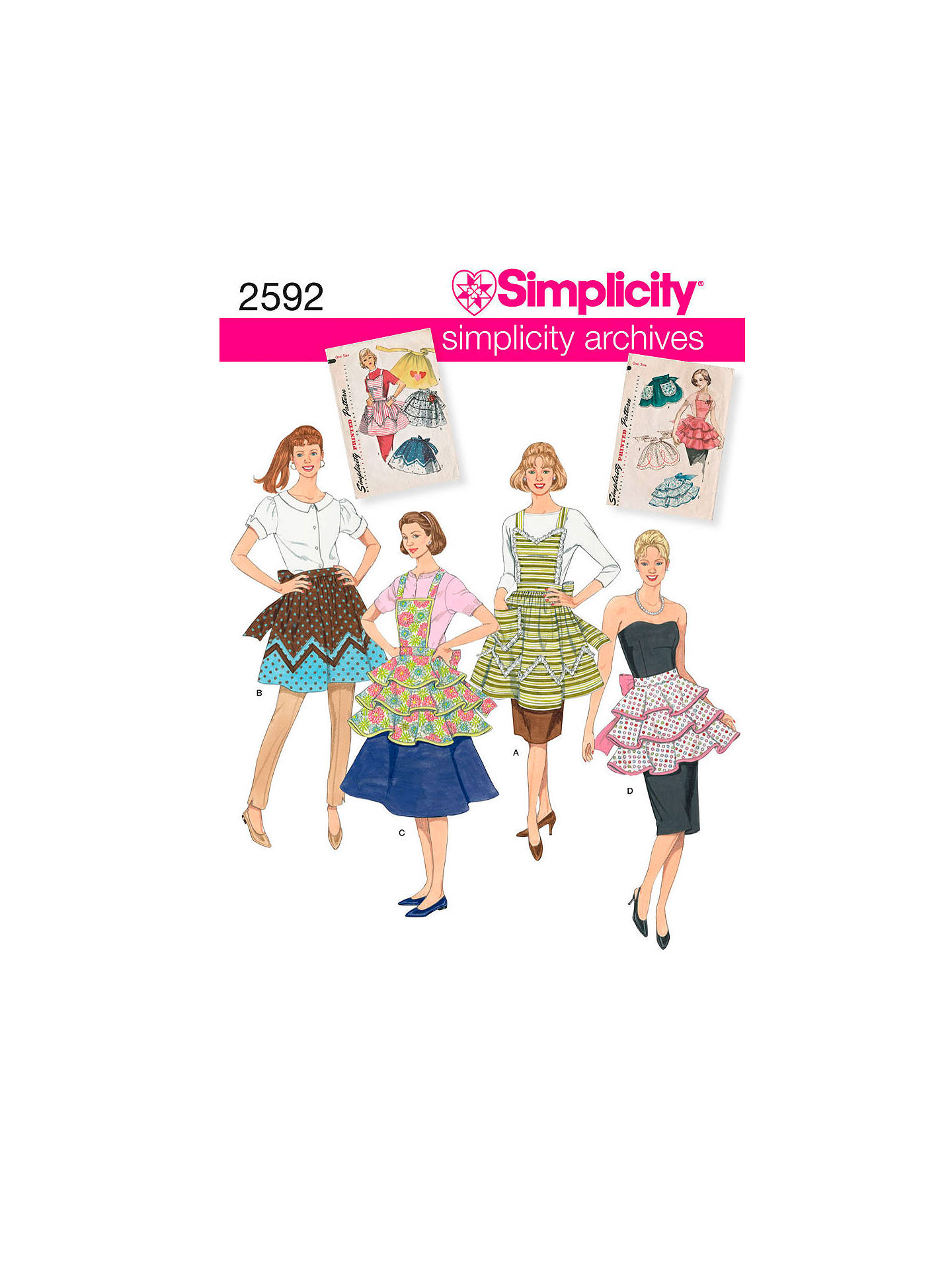 Siimplicity Craft Sewing Pattern, 2592, A at John Lewis & Partners
