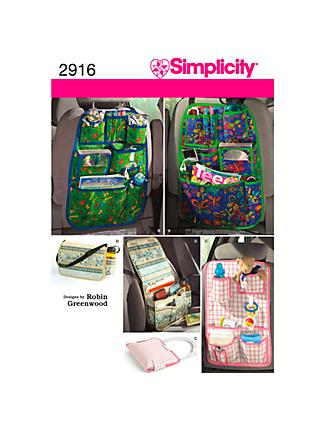 Simplicity Craft Sewing Pattern, 2916