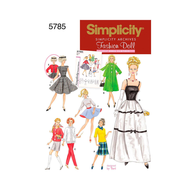 Simplicity Craft Sewing Pattern, 5785 at John Lewis