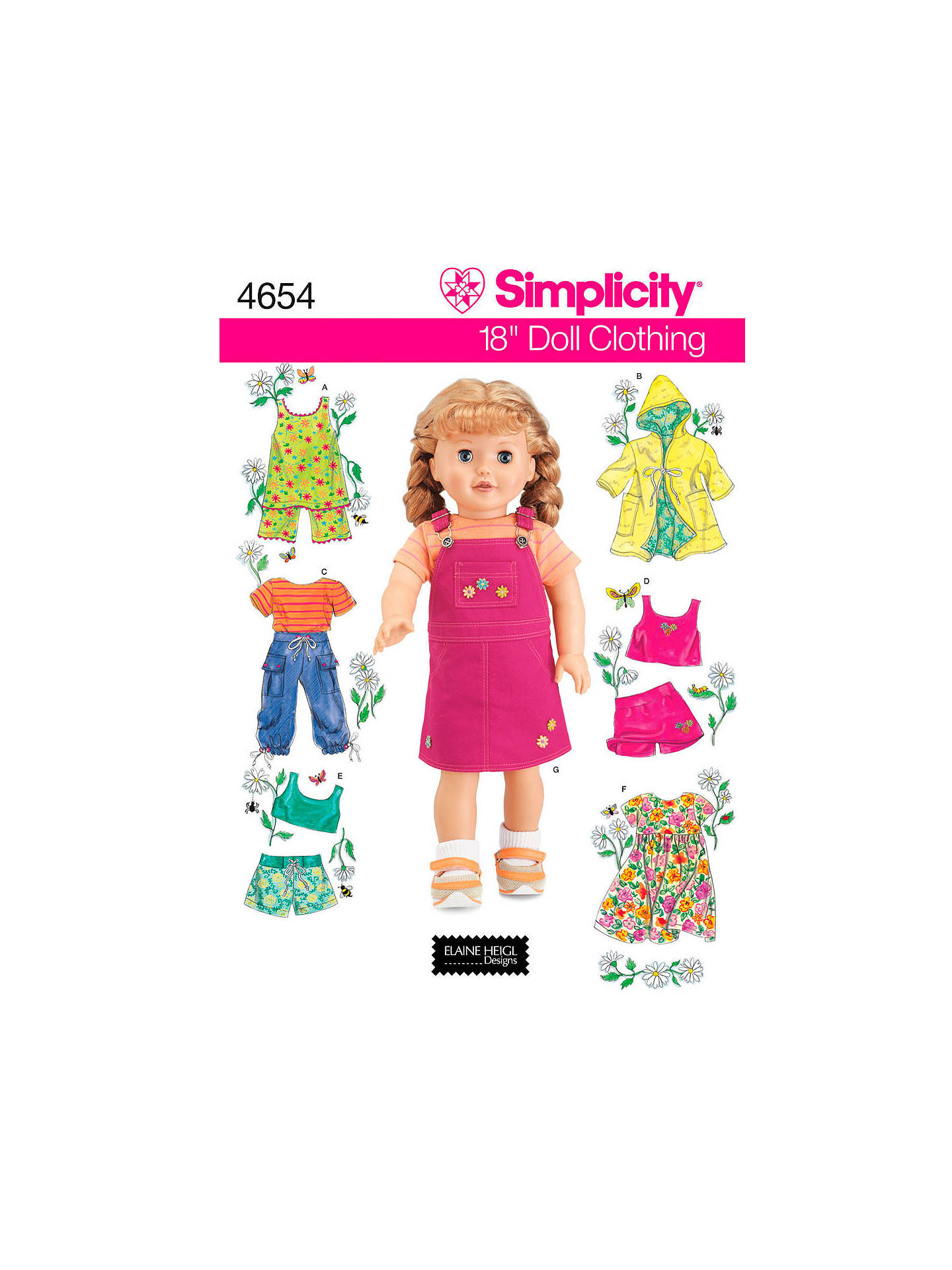 Simplicity Craft Sewing Pattern, 4654 at John Lewis & Partners