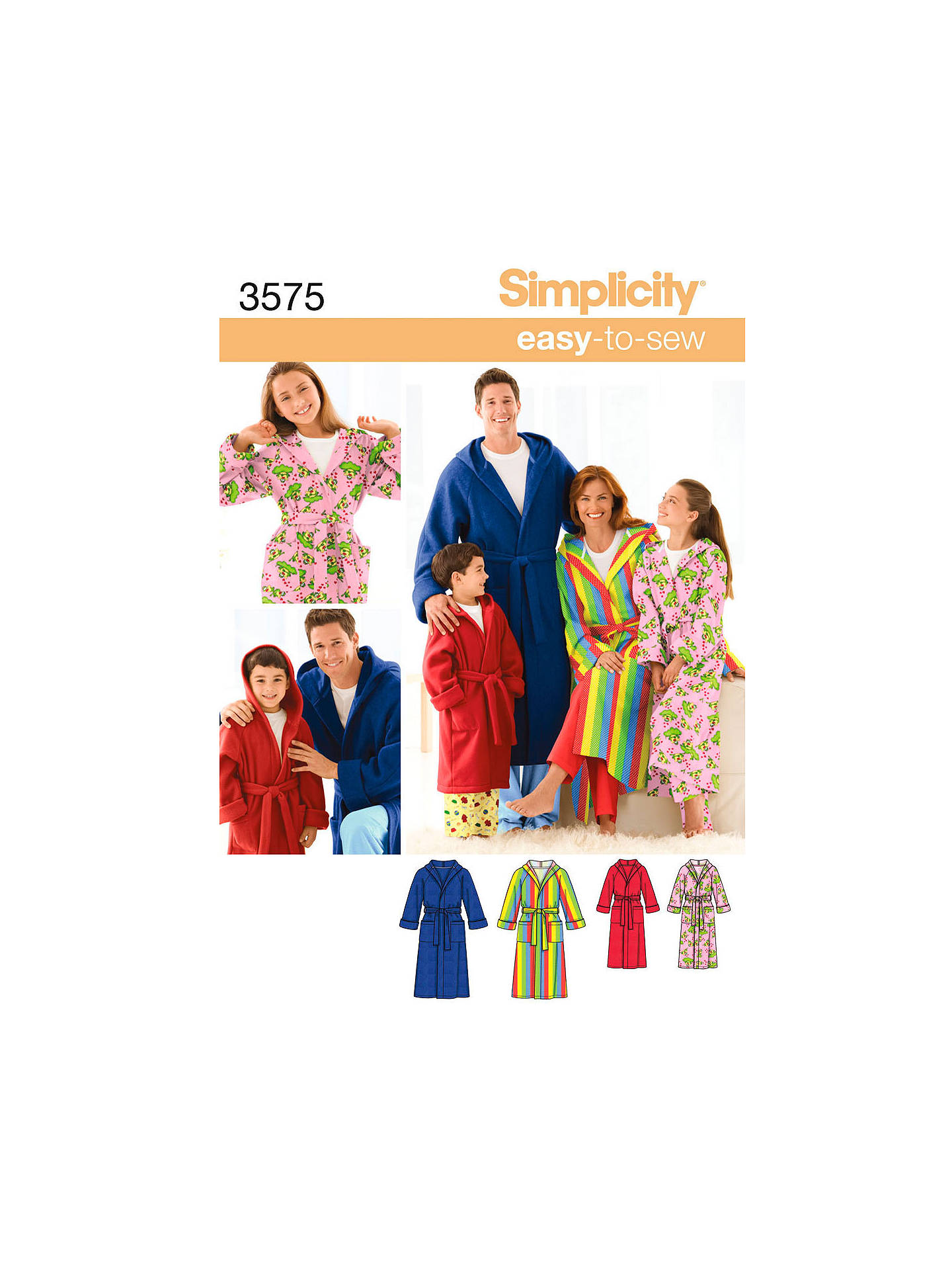 bc9b6a2efd BuySimplicity Easy to Sew Robes Sewing Leaflet