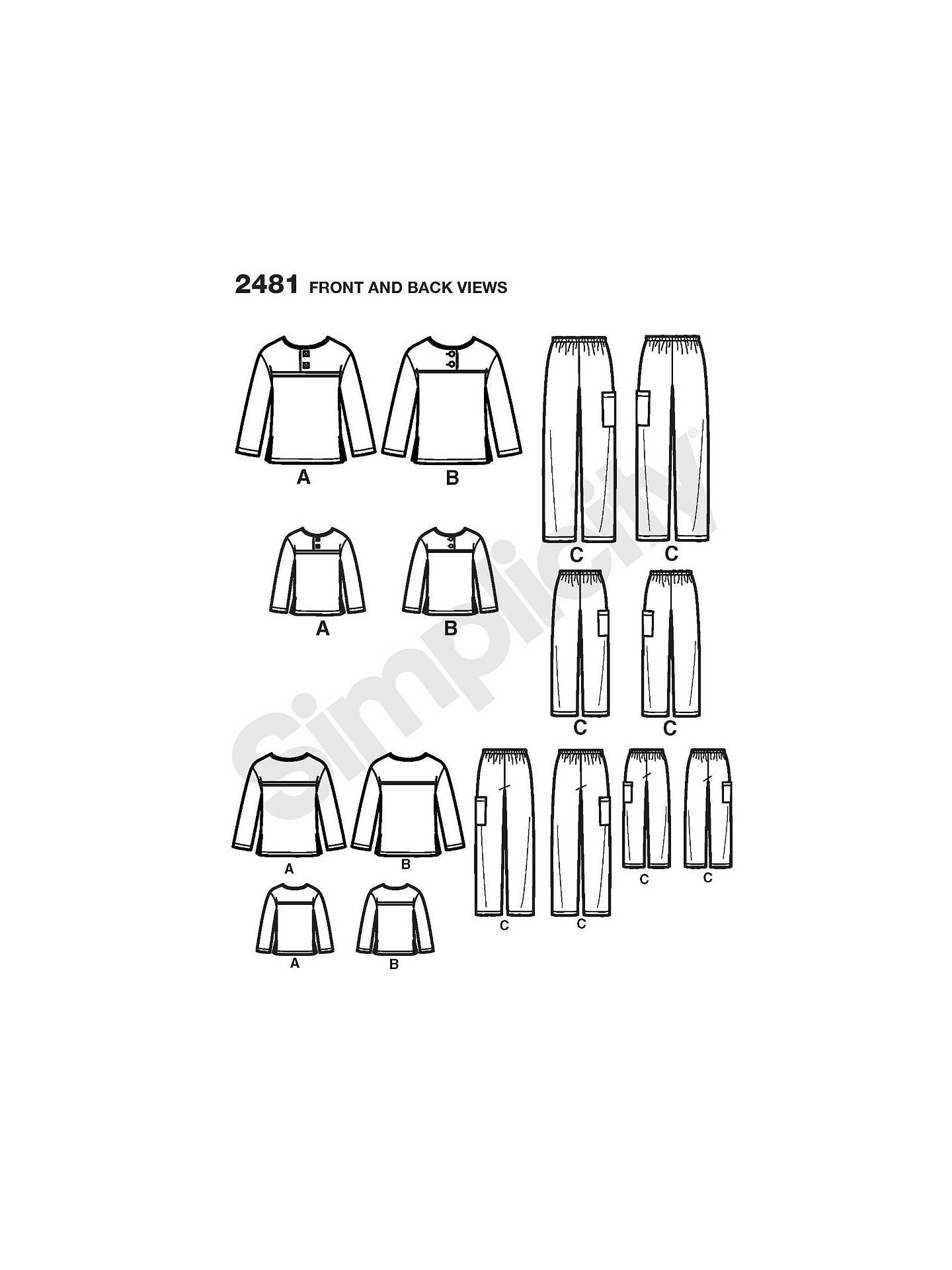 be500eb8ff ... BuySimplicity Children   Adult Sleepwear Sewing Pattern