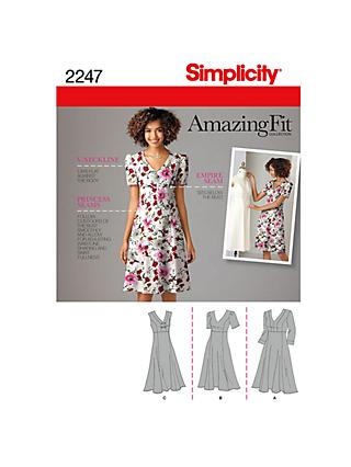 Simplicity Amazing Fit Women's Dress Sewing Pattern, 2247