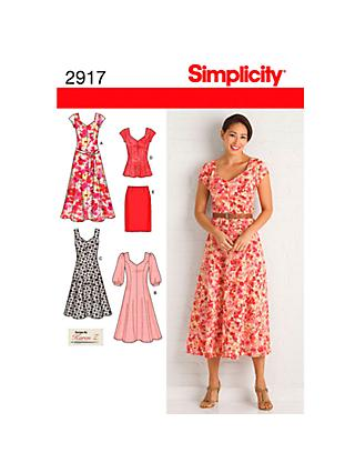 Simplicity Women's Dress Sewing Pattern, 2917