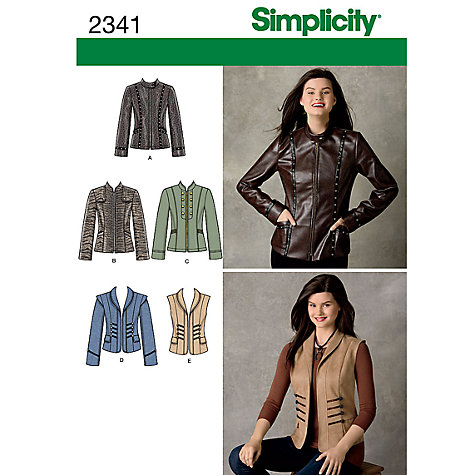Buy Simplicity Jackets Sewing Leaflet, 2341 Online at johnlewis.com