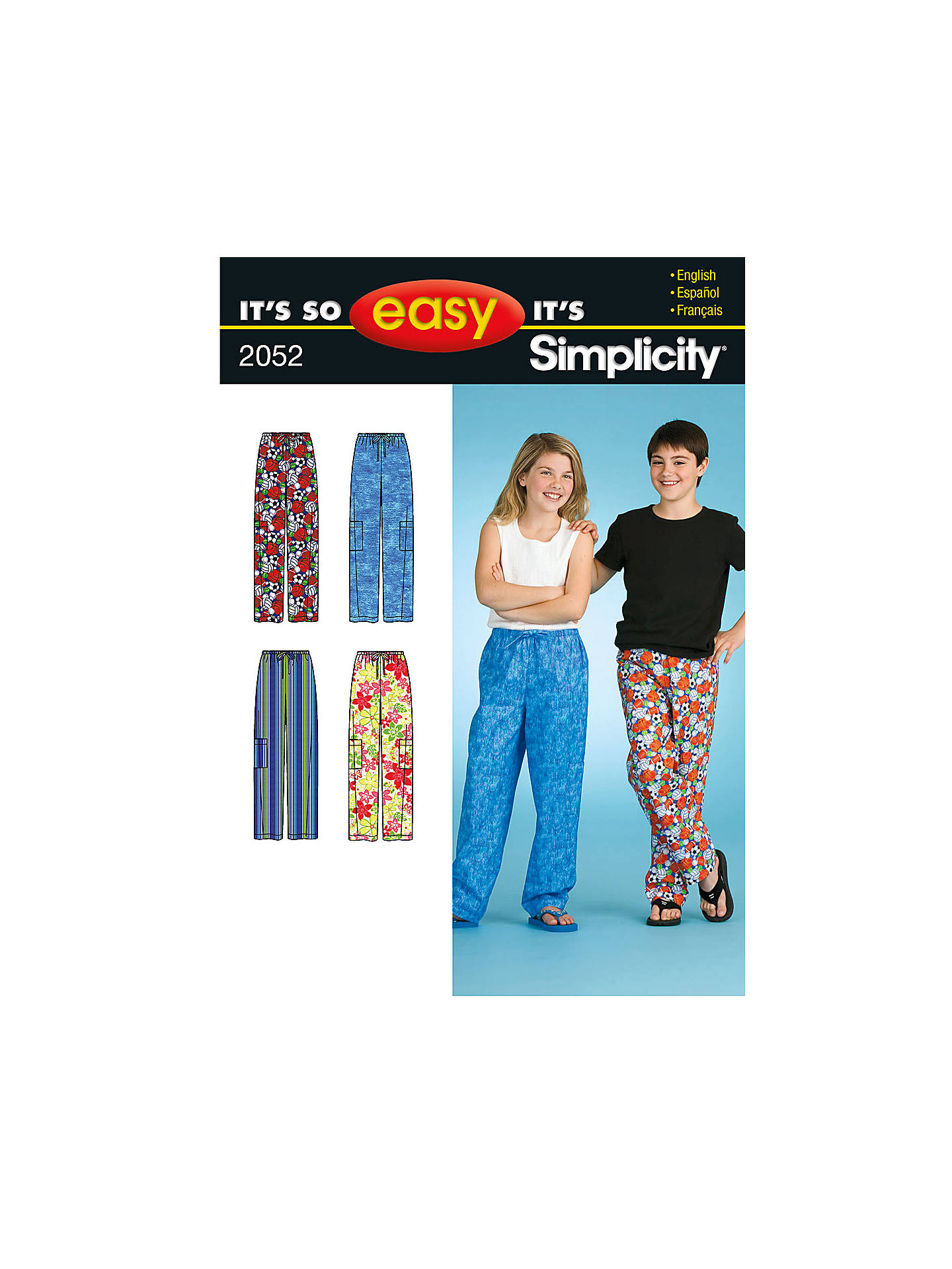889c659f5a Simplicity It s So Easy Girls    Boys  Sleepwear Sewing Leaflet ...