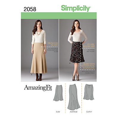 1930s Dresses, Clothing & Patterns Links Simplicity Amazing Fit Womens Skirts Sewing Pattern 2058 £4.47 AT vintagedancer.com