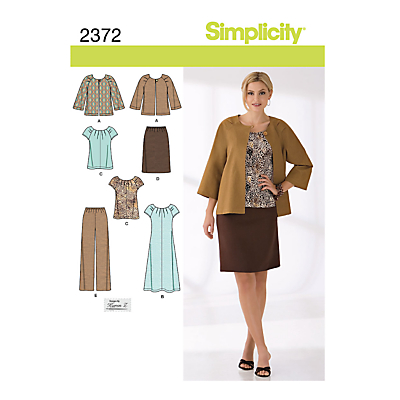Image of Simplicity Womens' Coordinates Sewing Pattern, 2372