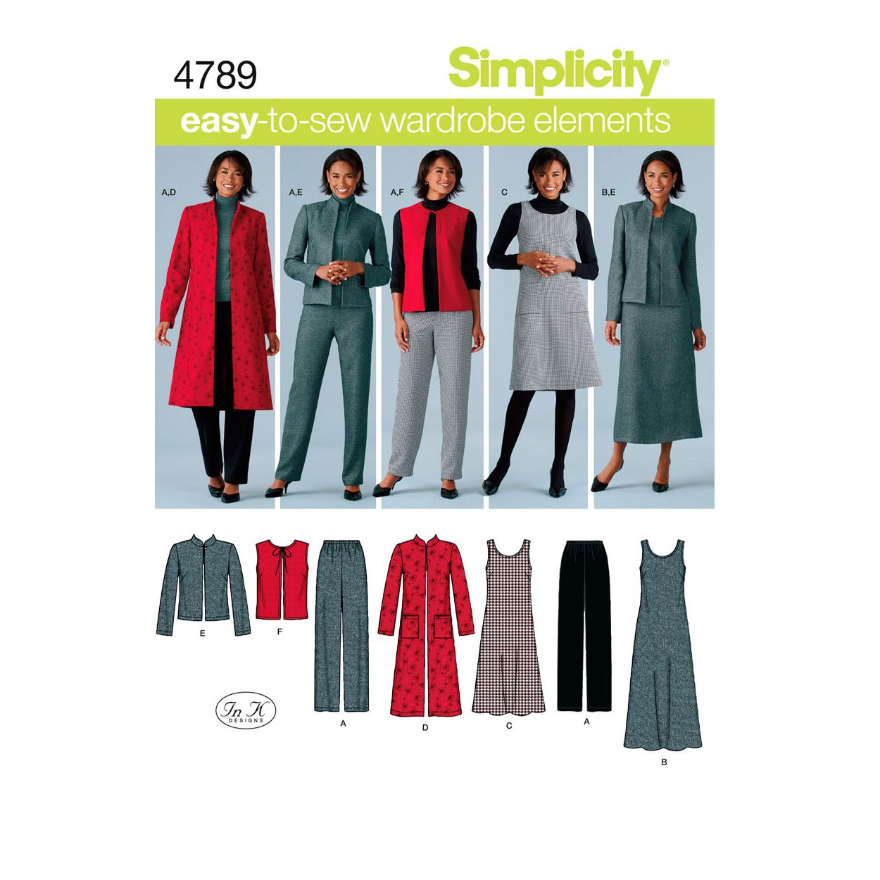 Simplicity Easy to Sew Wardrobe Elements Sewing Pattern, 4789