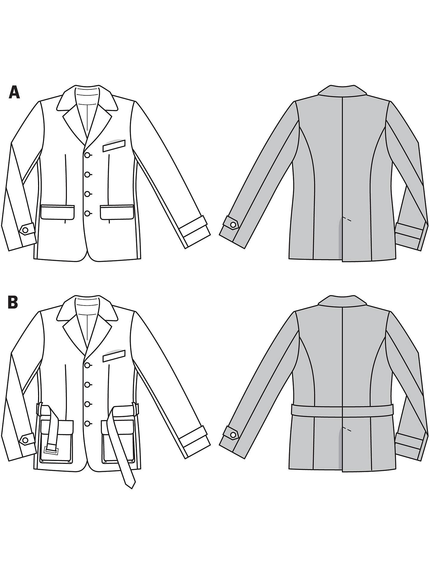 Burda Men\'s Jacket Sewing Pattern, 6993 at John Lewis & Partners