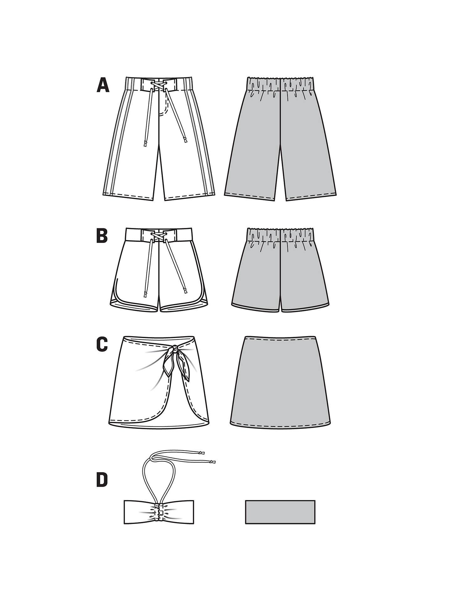 Burda Children\'s Swimwear Sewing Pattern, 9467 at John Lewis & Partners
