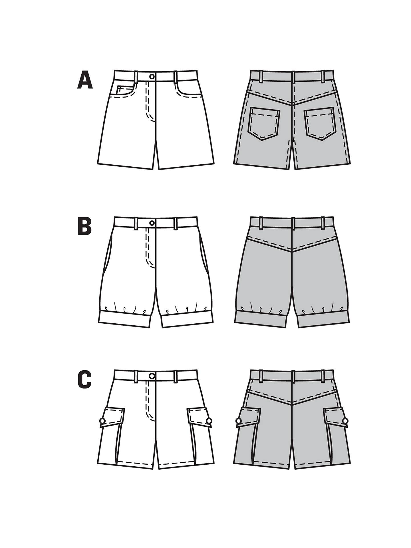 Burda Girls\' Shorts Sewing Pattern, 9481 at John Lewis & Partners