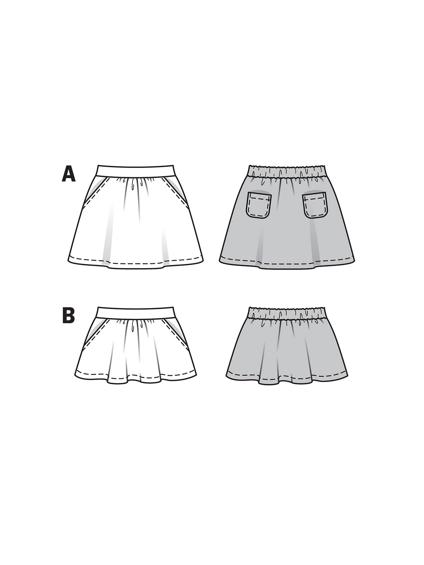 Burda Girls\' Skirt Sewing Pattern, 9492 at John Lewis & Partners