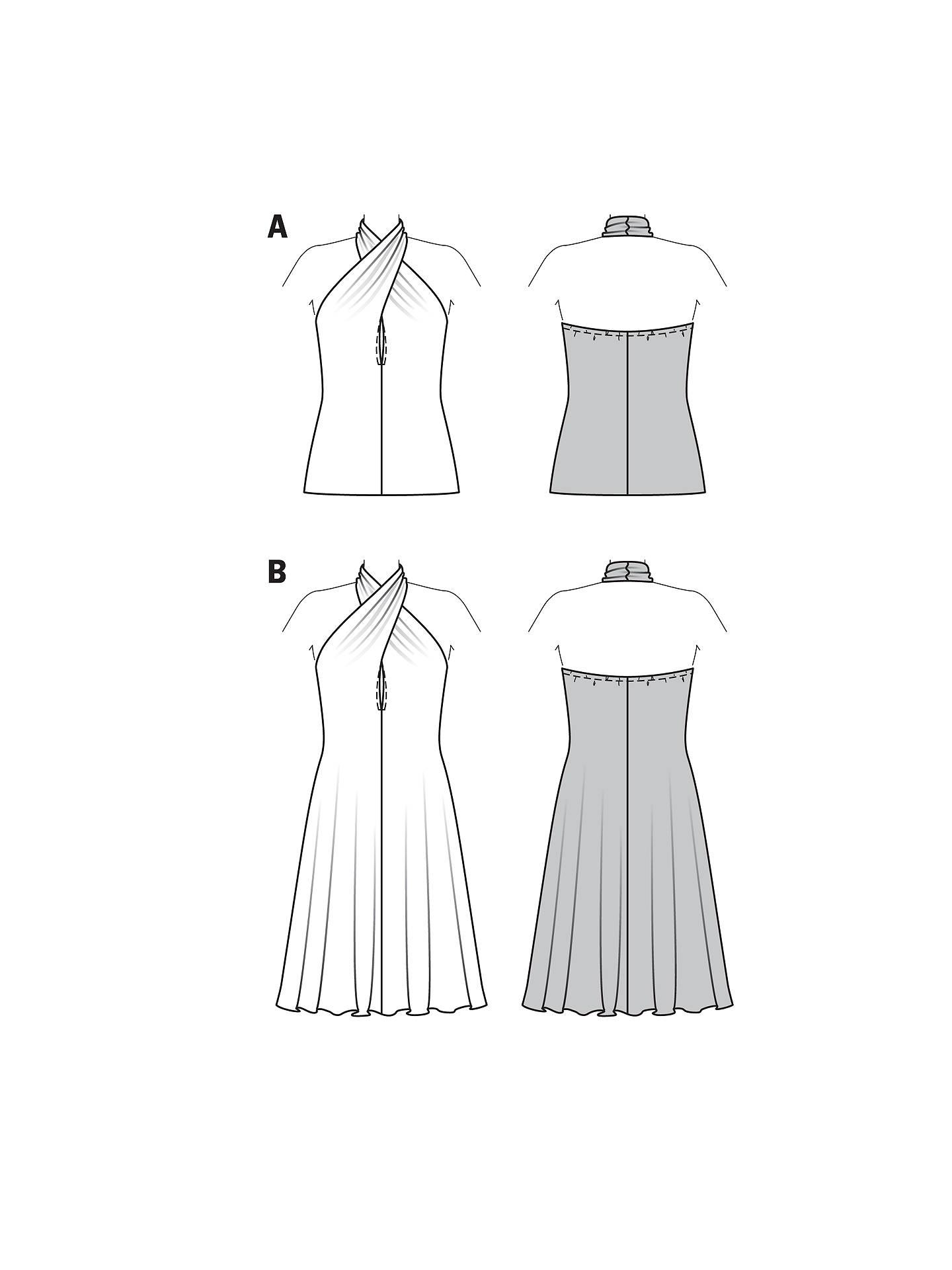 Burda Women\'s Halterneck Top & Dress Sewing Pattern, 7065 at John ...