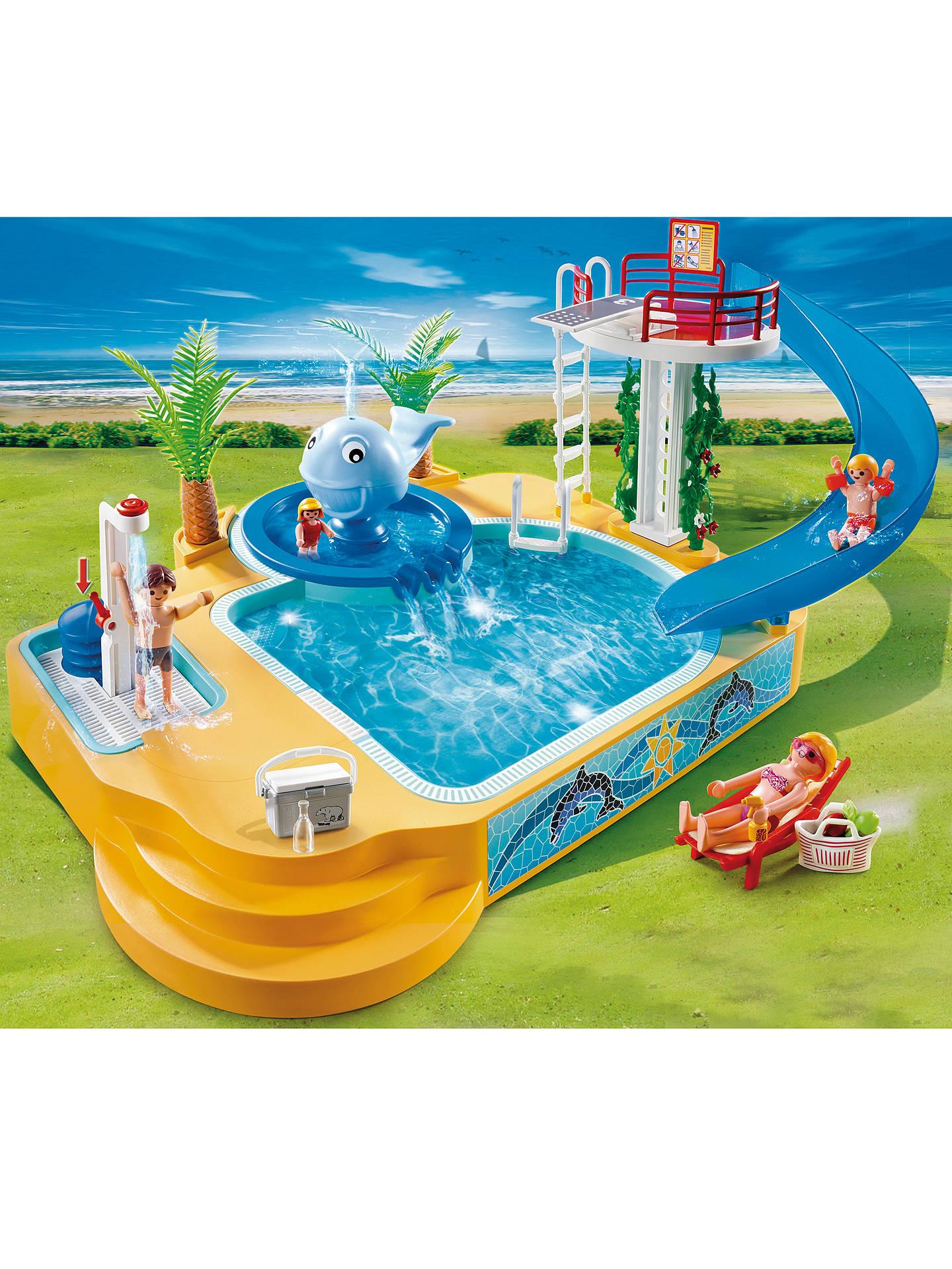 Playmobil Summer Fun Pool And Fountain