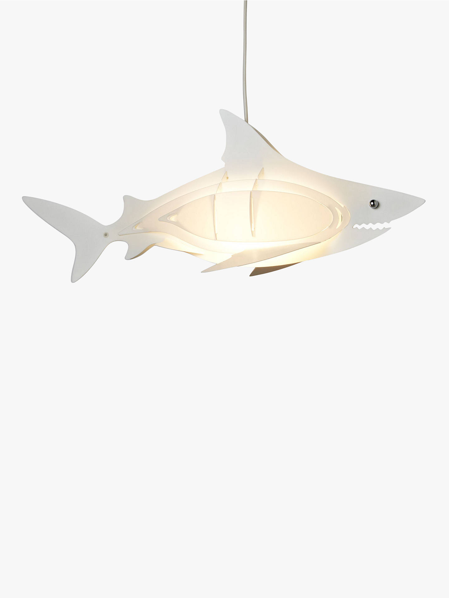 Buy little home at John Lewis Easy-to-fit Shark Ceiling Shade Online at johnlewis.com