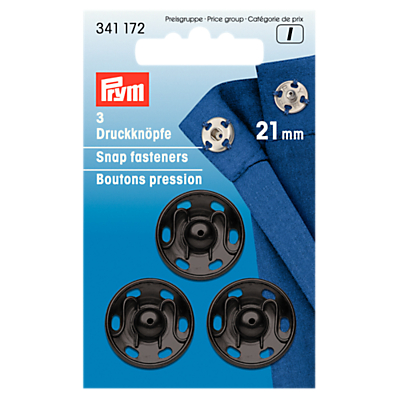 Image of Prym Sew On Snap Fastners, 21mm, Pack of 3
