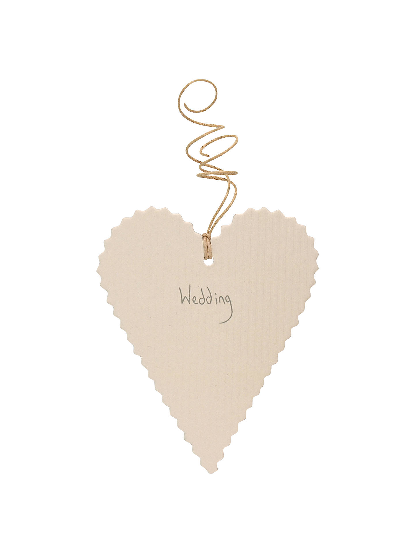 East Of India Heart Wedding Gift Tag At John Lewis Partners