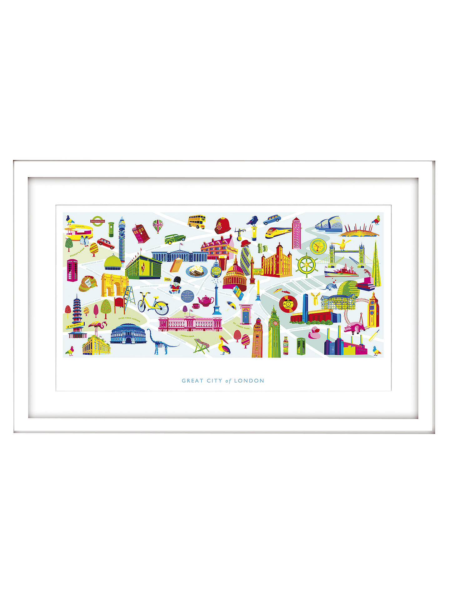 Buy Nicola Metcalfe - London Framed Print, 54 x 84cm Online at johnlewis.com