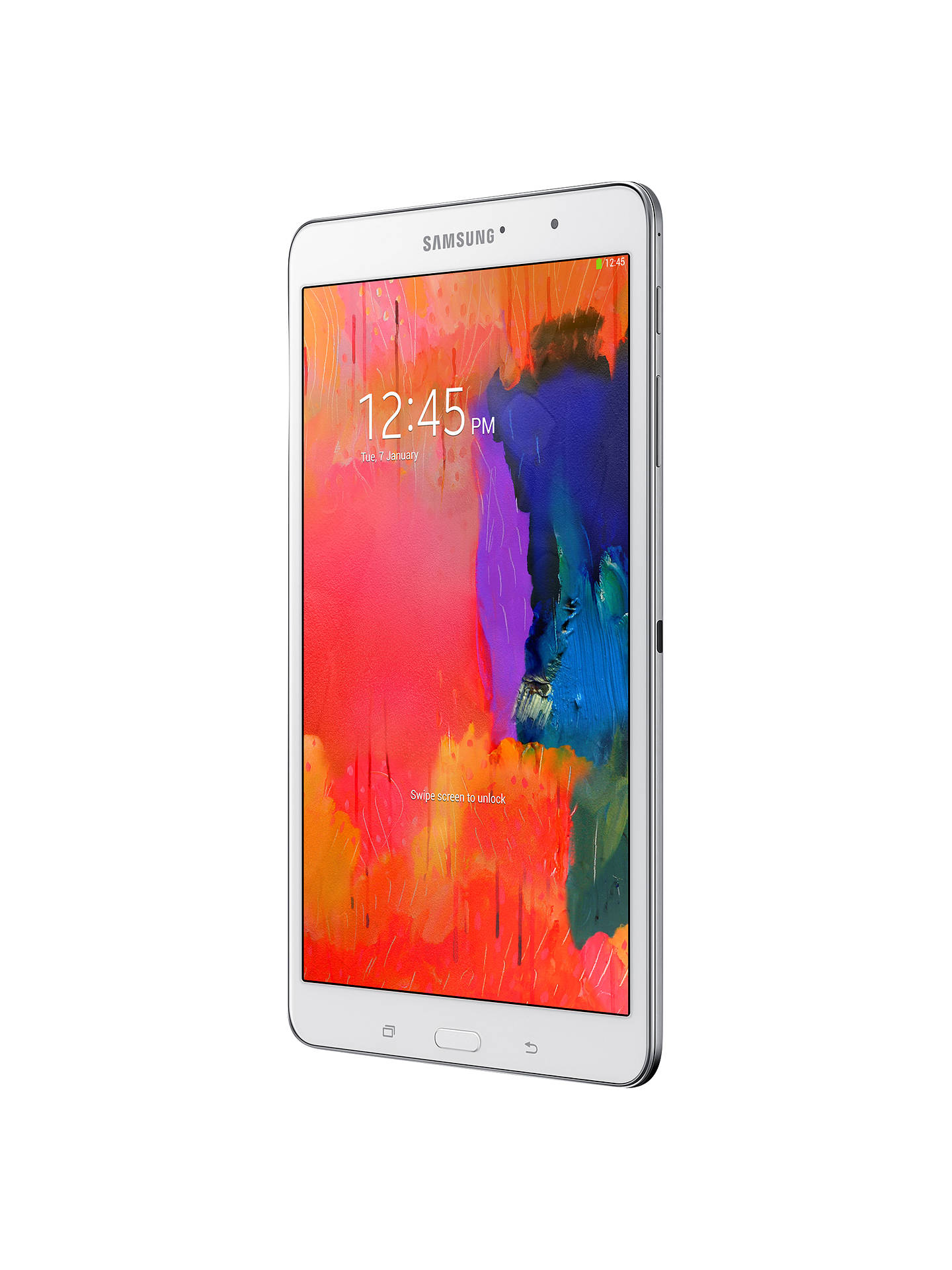 "Buy Samsung Galaxy TabPRO Tablet, Qualcomm Snapdragon, Android, 8.4"" 16GB, Wi-Fi, White Online at johnlewis.com"