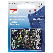 Buy Prym Glass Headed Pins, 10g Online at johnlewis.com
