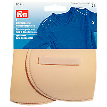 Buy Prym Flesh Set-In Shoulder Pads With Hook And Loop, Small Online at johnlewis.com