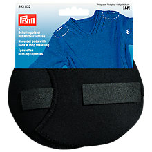 Buy Prym Black Set-In Shoulder Pads With Hook And Loop, Small Online at johnlewis.com