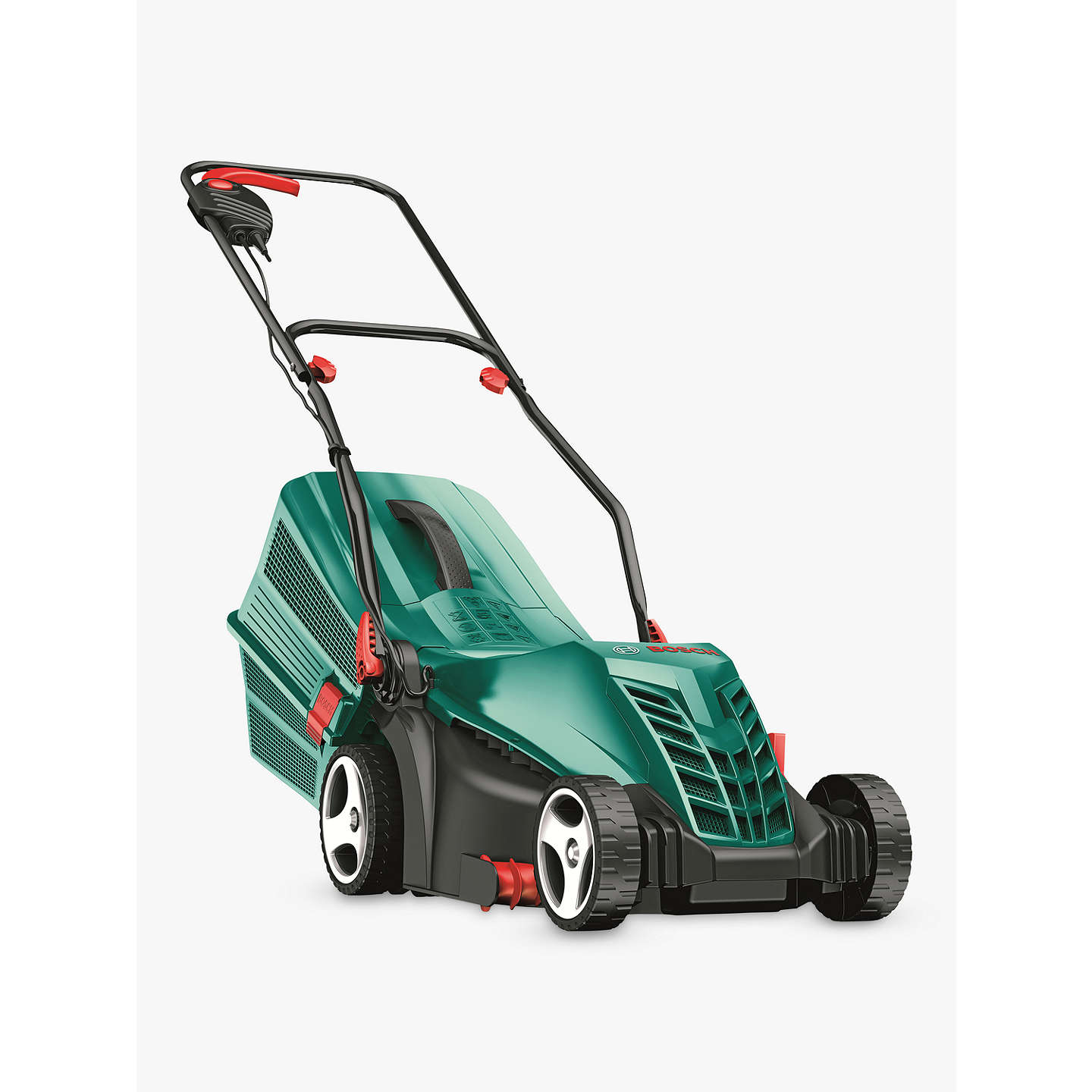 bosch rotak 34 r rotary hand propelled electric lawnmower at john lewis. Black Bedroom Furniture Sets. Home Design Ideas