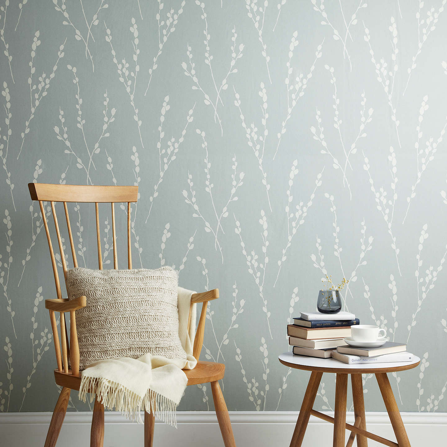 BuyCroft Collection Catkin Wallpaper, Slate Online at johnlewis.com