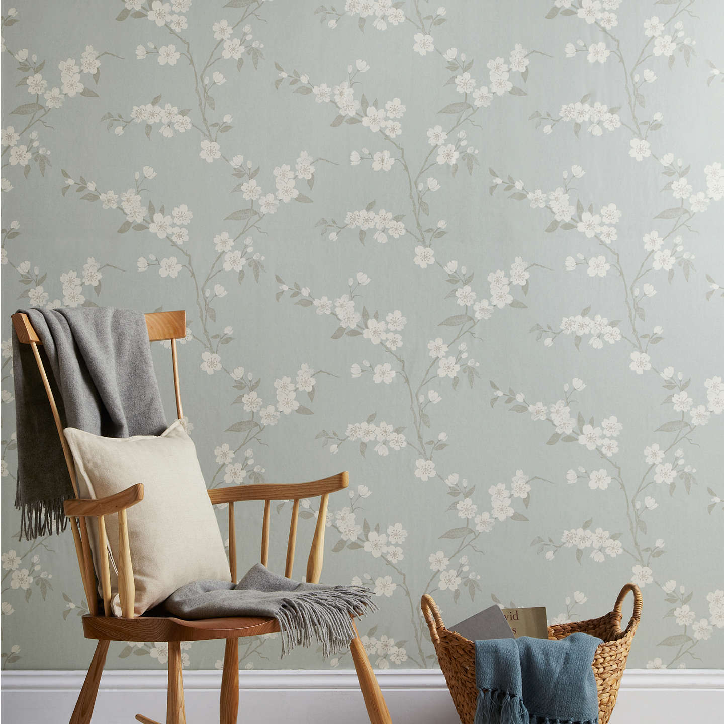 John lewis cherry blossom wallpaper at john lewis for Bedroom inspiration john lewis