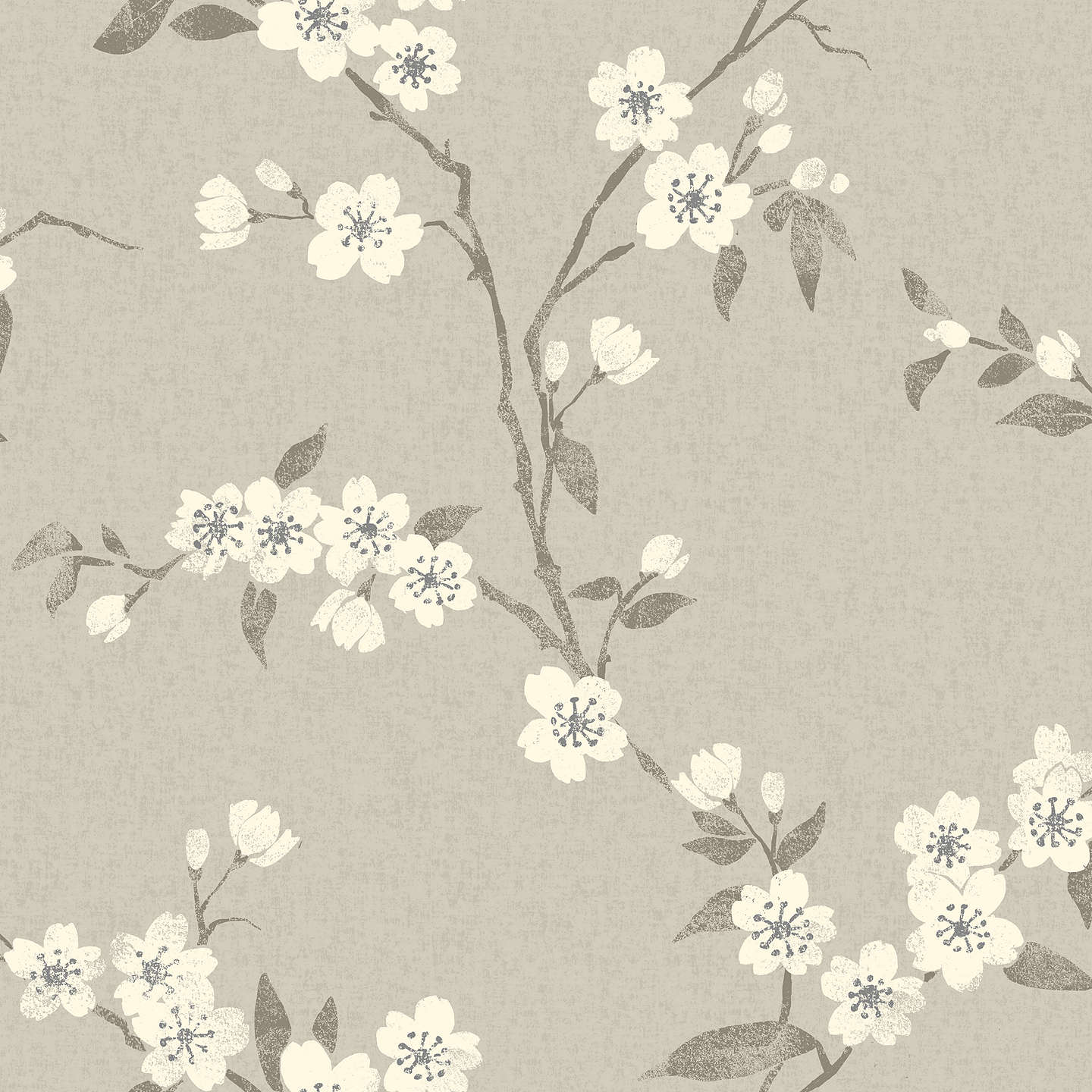 BuyJohn Lewis Cherry Blossom Wallpaper Putty Online At Johnlewis
