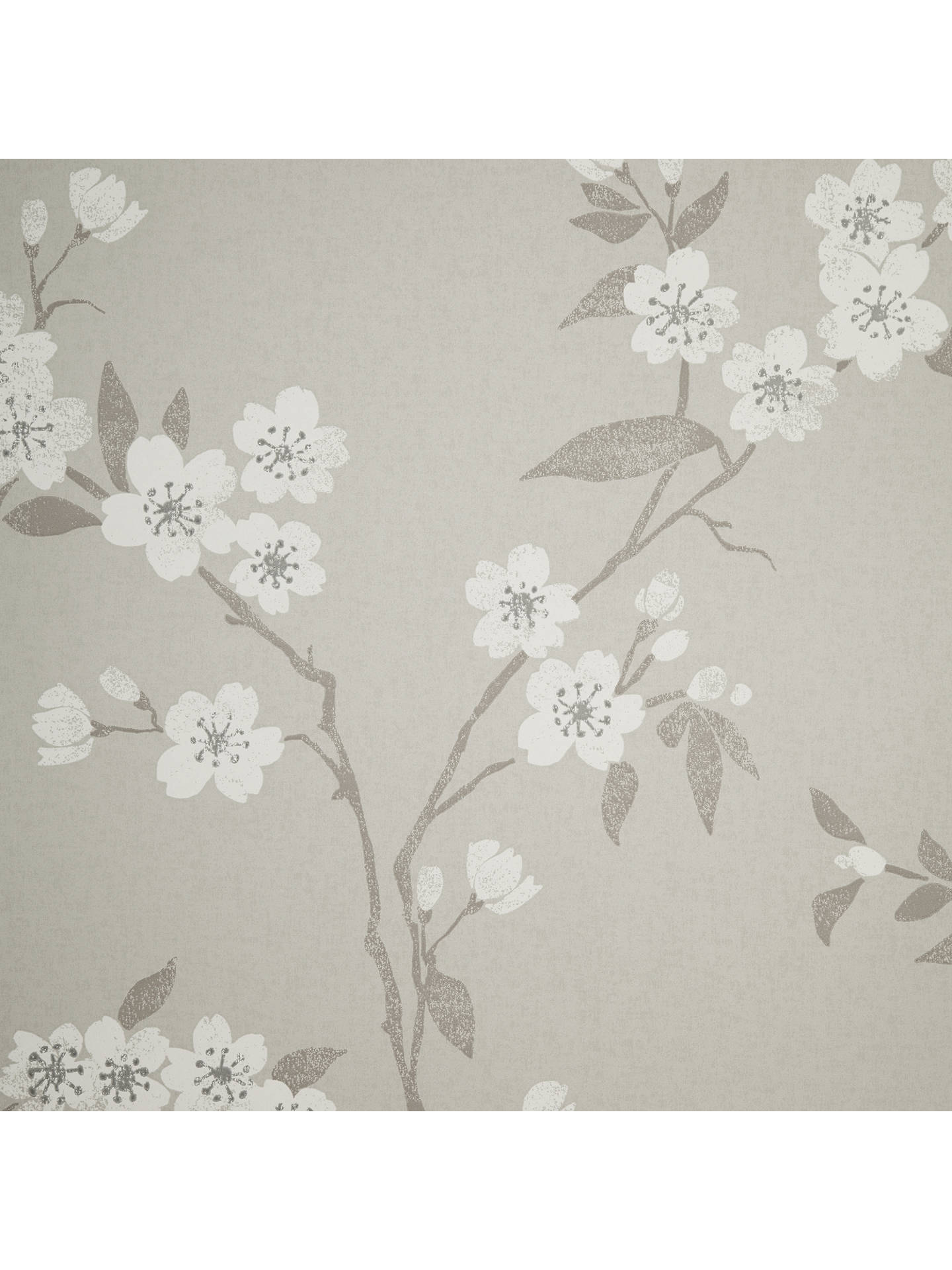 BuyJohn Lewis Partners Cherry Blossom Wallpaper Putty Online At Johnlewis