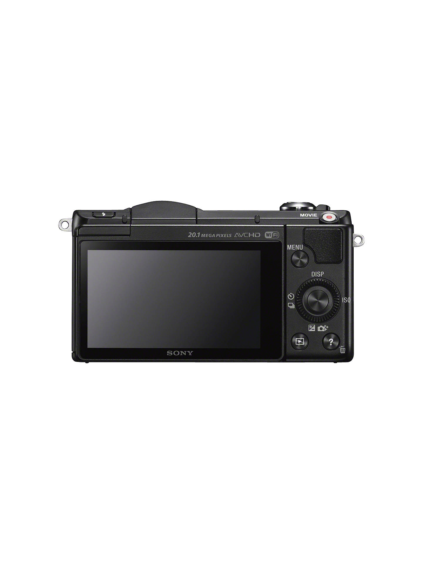 "Buy Sony A5000 Compact System Camera with 16-50mm Lens, HD 1080p, 20.1MP, Wi-Fi, 3"" Tilting LCD Screen, Black Online at johnlewis.com"