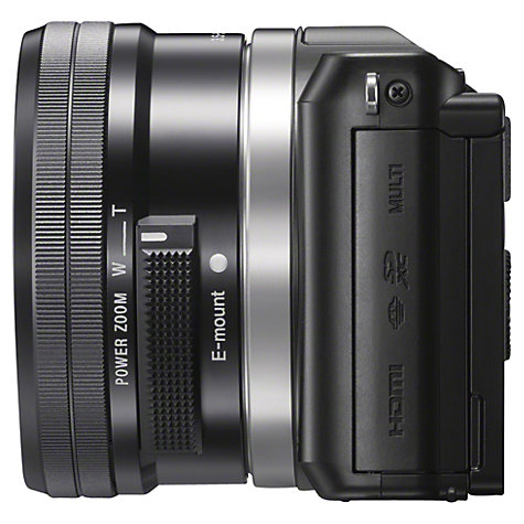 "Buy Sony A5000 Compact System Camera with 16-50mm Lens, HD 1080p, 20.1MP, Wi-Fi, 3"" Tilting LCD Screen Online at johnlewis.com"