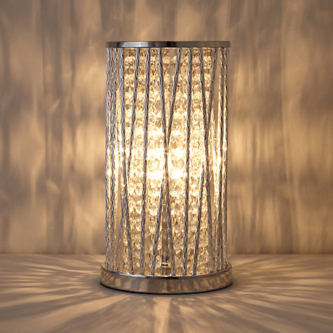 Buy John Lewis Emilia Crystal Table Lamp, Clear Online at johnlewis.com