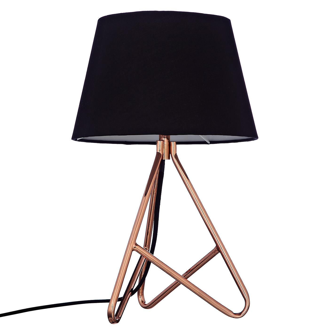 Copper lampcopper vintage spotlight floor lamp with for Copper floor lamp john lewis