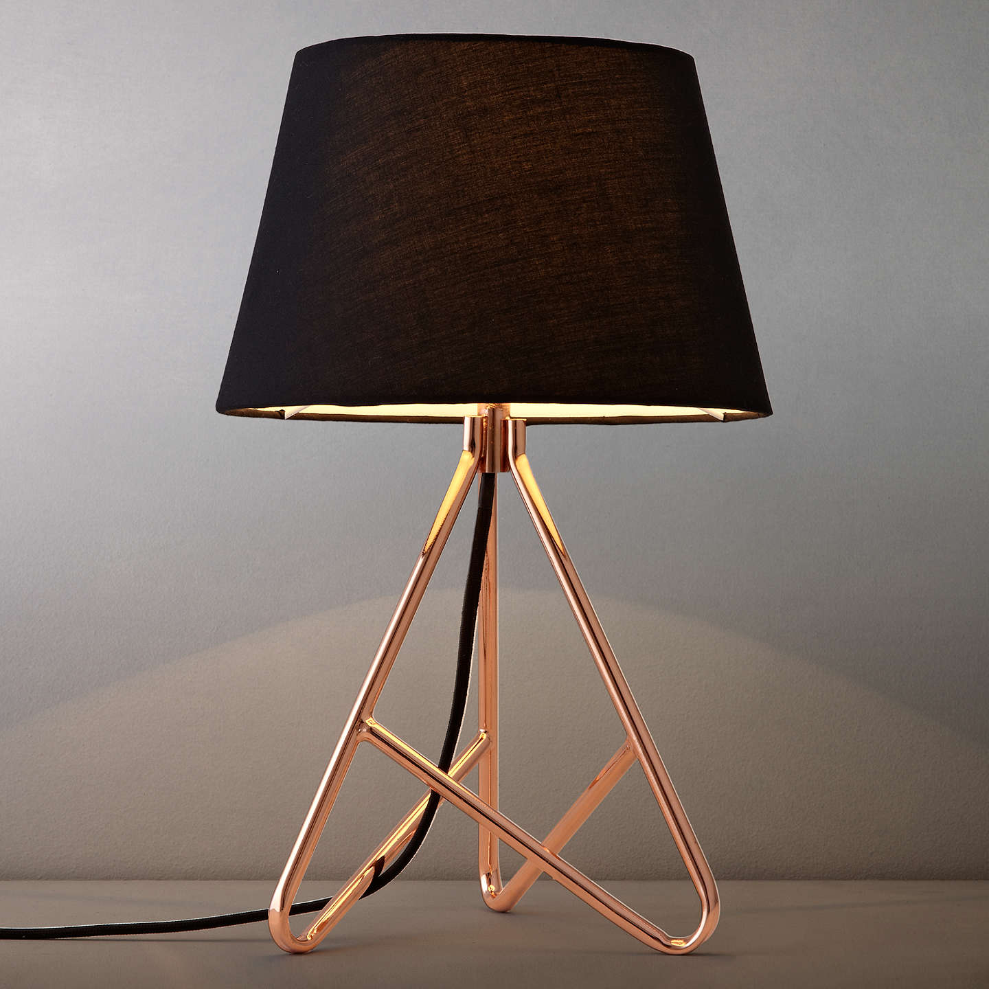John lewis albus twisted table lamp at john lewis buyjohn lewis albus twisted table lamp blackcopper online at johnlewis aloadofball Image collections
